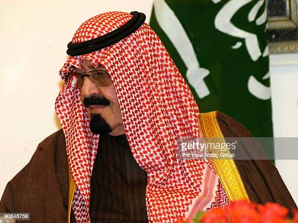 Abdullah bin Abdul Aziz King of Saudi Arabia with others in New Delhi India