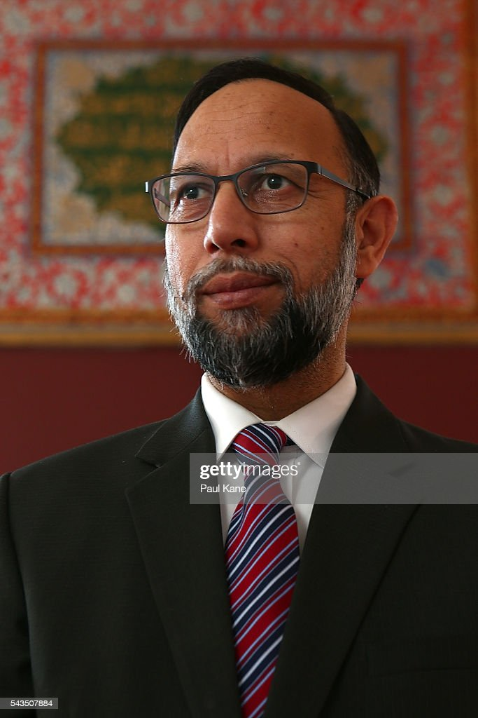 Abdullah Khan, Executive Principal & CEO of the Australian Islamic College poses in the Thornlie Mosque on June 29, 2016 in Perth, Australia. Police are investigating a firebomb attack which occurred last night at the Thornlie Mosque. No one was injured in the attack which took place during evening prayers.