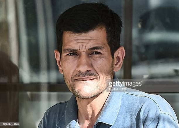 Abdullah Kurdi father of threeyear old Aylan Kurdiwaits at the morgue in Mugla southern Turkey on September 3 after a boat carrying refugees sank...