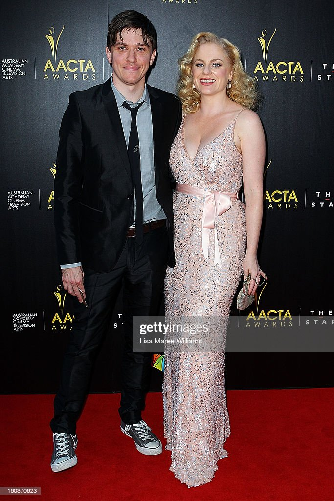 Abe Forsythe and Helen Dallimore arrive at the 2nd Annual AACTA Awards at The Star on January 30, 2013 in Sydney, Australia.