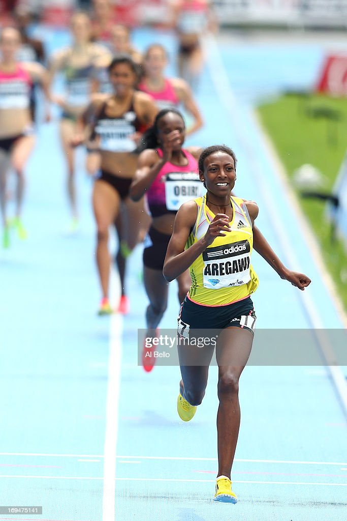 <a gi-track='captionPersonalityLinkClicked' href=/galleries/search?phrase=Abeba+Aregawi&family=editorial&specificpeople=7507662 ng-click='$event.stopPropagation()'>Abeba Aregawi</a> of Sweden wins the 1500 Meter Final during the Adidas Grand Prix at Icahn Stadium on Randall's Island on May 25, 2013 in New York City.