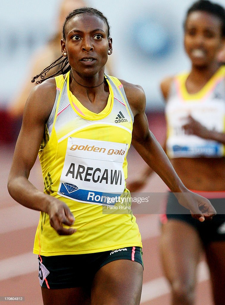 <a gi-track='captionPersonalityLinkClicked' href=/galleries/search?phrase=Abeba+Aregawi&family=editorial&specificpeople=7507662 ng-click='$event.stopPropagation()'>Abeba Aregawi</a> of Sweden wins the 1500m women's race at the IAAF Golden Gala at Stadio Olimpico on June 6, 2013 in Rome, Italy.
