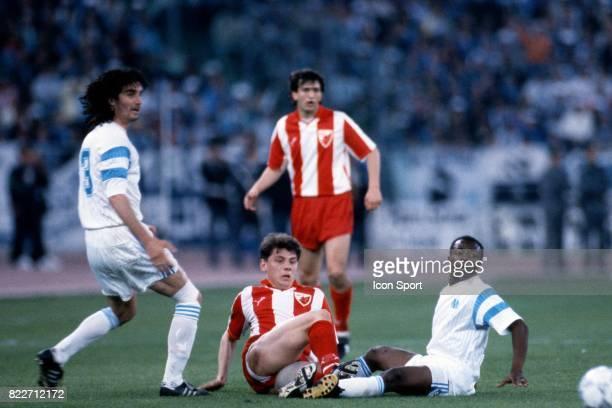 Abedi PELE Marseille / Etoile Rouge Belgrade Finale Coupe d'Europe des Clubs Champions Bari