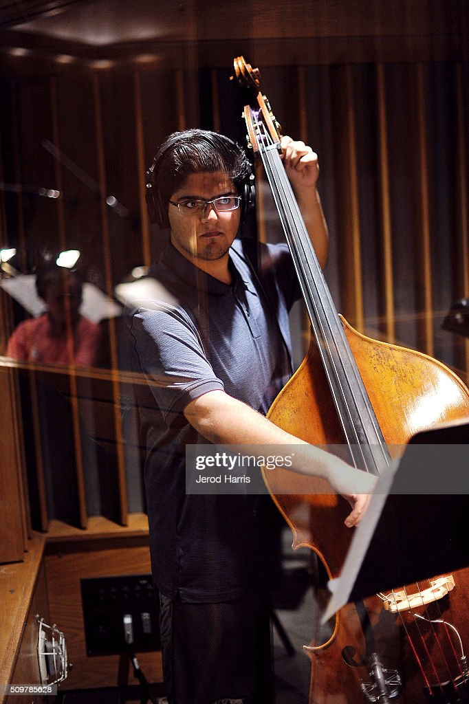 Abeed Janjua at the GRAMMY Foundation(R)'s GRAMMY Camp(R) - Jazz Session studio recording at Capitol Studios & Mastering at Capitol Records Studio on February 12, 2016 in Hollywood, California.