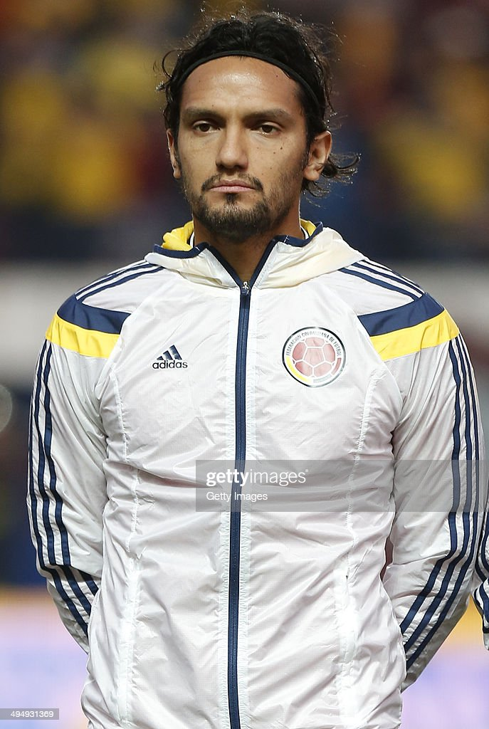 <a gi-track='captionPersonalityLinkClicked' href=/galleries/search?phrase=Abel+Aguilar&family=editorial&specificpeople=2309935 ng-click='$event.stopPropagation()'>Abel Aguilar</a> of Colombia looks on before the International Friendly Match between Colombia and Senegal at Pedro Bidegain Stadium on May 31, 2014 in Buenos Aires, Argentina.