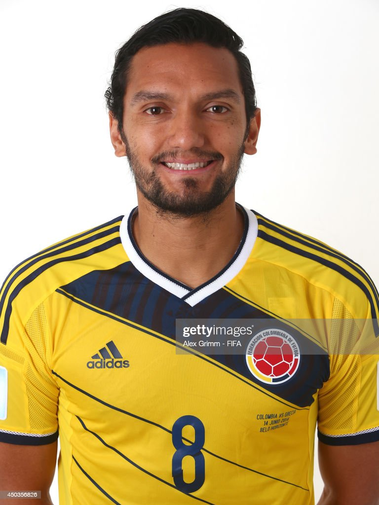<a gi-track='captionPersonalityLinkClicked' href=/galleries/search?phrase=Abel+Aguilar&family=editorial&specificpeople=2309935 ng-click='$event.stopPropagation()'>Abel Aguilar</a> of Colombia poses during the official FIFA World Cup 2014 portrait session on June 9, 2014 in Sao Paulo, Brazil.