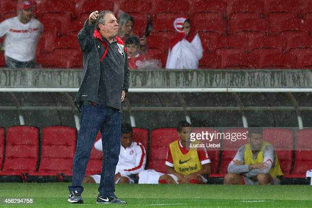 Abel Braga coach of Internacional during the match between Internacional and Coritiba as part of Brasileirao Series A 2014 at Estadio BeiraRio on...