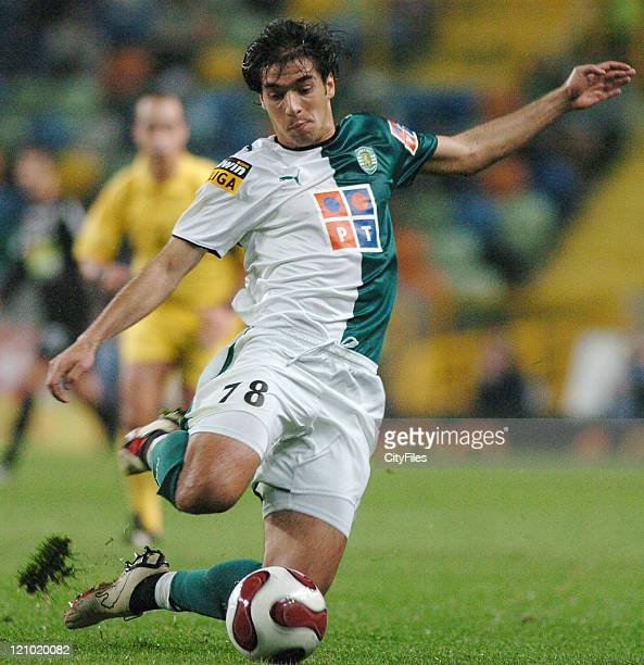 Abel during a Portuguese Cup quarterfinal match between Sporting Lisbon and Academica in Lisbon Portugal on February 28 2007