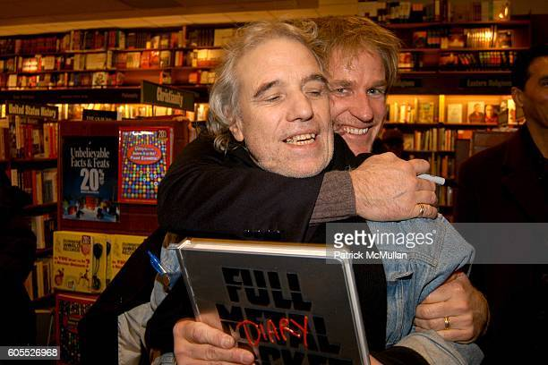 Abel Ferrara and Matthew Modine attend Matthew Modine Book Signing for FULL METAL JACKET DIARY at Barnes Noble Book Store on January 4 2006 in New...