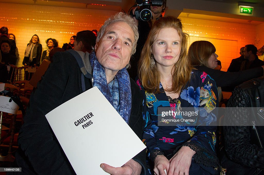 Abel Ferrara and Shanyn Leigh attend the Jean-Paul Gaultier Spring/Summer 2013 Haute-Couture show as part of Paris Fashion Week at on January 23, 2013 in Paris, France.