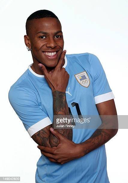 Abel Hernandez of Uruguay poses during a portrait session on July 22 2012 in Manchester England