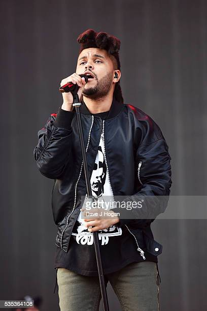 Abel Makkonen Tesfaye aka The Weeknd performs during day 2 of BBC Radio 1's Big Weekend at Powderham Castle on May 29 2016 in Exeter England