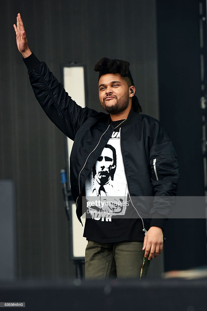 Abel Makkonen Tesfaye a.k.a <a gi-track='captionPersonalityLinkClicked' href=/galleries/search?phrase=The+Weeknd+-+Musiker&family=editorial&specificpeople=8008743 ng-click='$event.stopPropagation()'>The Weeknd</a> performs during day 2 of BBC Radio 1's Big Weekend at Powderham Castle on May 29, 2016 in Exeter, England.