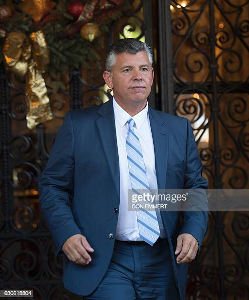 Abel Maldonado Former Lieutenant Governor of California departs after meeting with US Presidentelect Donald Trump December 28 2016 at MaraLago in...