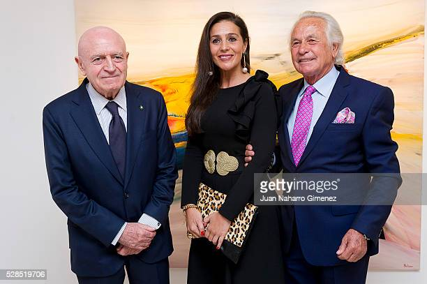 Abel Matutes and Palomo Linares attend the 'Palomo Linares Exhibition' presentation at David Bardia Gallerie on May 5 2016 in Madrid Spain