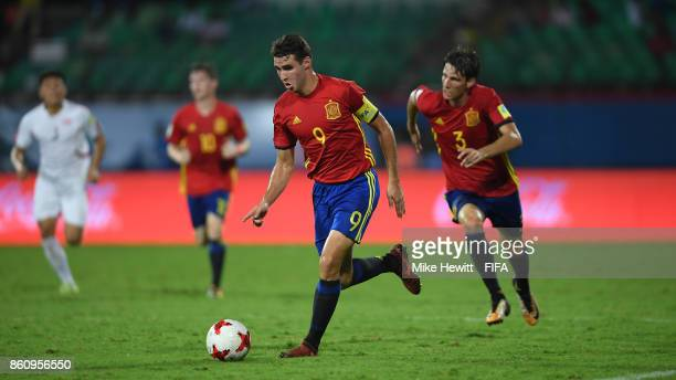 Abel Ruiz of Spain in action during the FIFA U17 World Cup India 2017 group D match between Spain and Korea DPR at the Jawaharlal Nehru International...