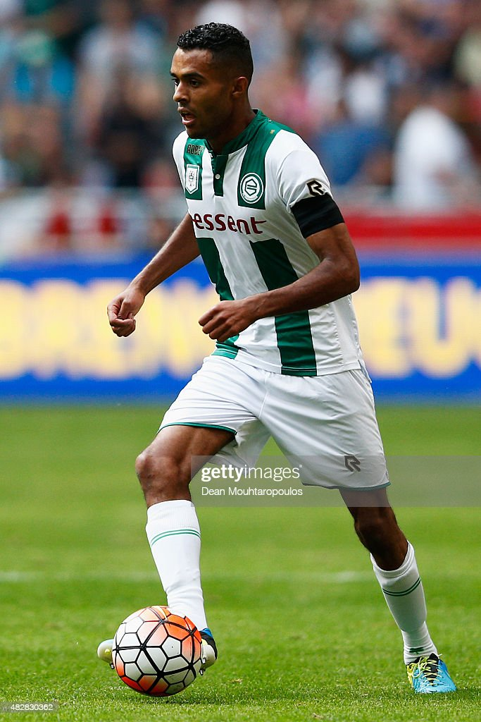 Abel Tamata of Groningen in action during the Johan Cruijff Shield match between FC Groningen and PSV Eindhoven on August 2 2015 in Amsterdam...