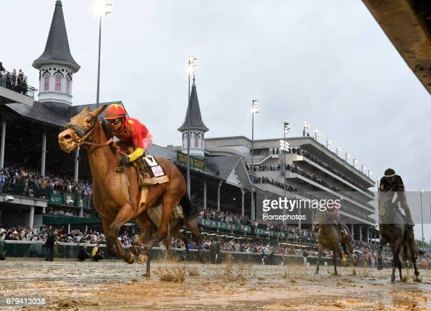 Abel Tasman with Mike Smith up wins the Longines Kentucky Oaks at Churchill Downs on May 5 2017 in Louisville Kentucky