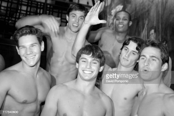 Abercrombie Fitch models during Abercrombie Fitch Store Opening on 5th Avenue in New York City at A F 5th Avenue in New York City New York United...