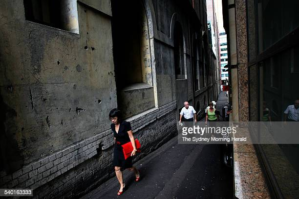 Abercrombie Lane in Sydney is one of many lanes and alleys to recieve a facelift 27 November 2006 SMH Picture by DEAN SEWELL
