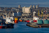 Aberdeen cityscape and harbour
