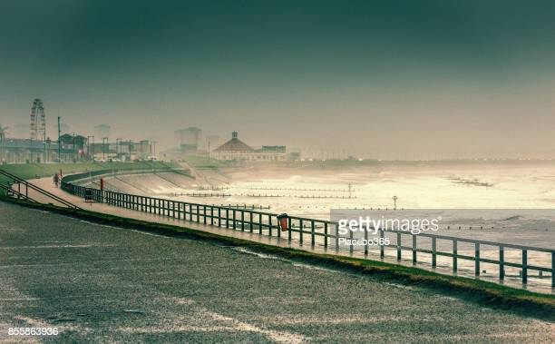 Aberdeen During Storm in North Sea, UK
