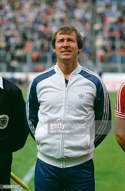 Aberdeen FC manager Alex Ferguson at a match circa 1980
