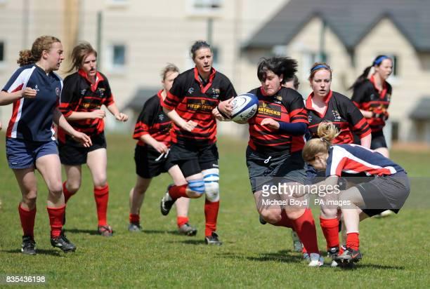 Aberdeenshire Quines' Lynda Allanson duirng the Bowl Final