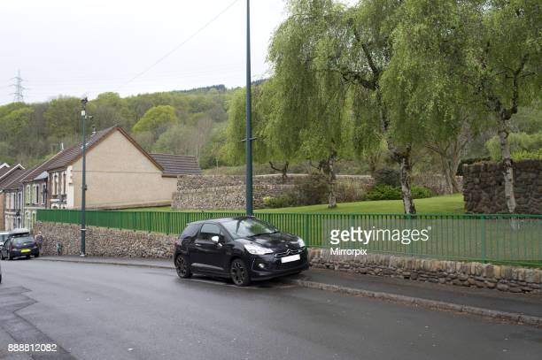 Aberfan South Wales 2016 Gv of the memorial garden on the site of the Pantglas Junior School in the village of Aberfan South Wales 116 pupils and 28...