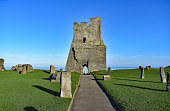 The old castle ruin in aberystwyth, mid wales