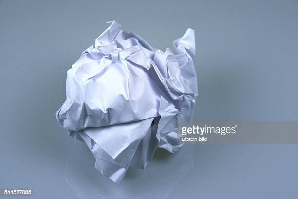 Abfall zerknuelltes Papier
