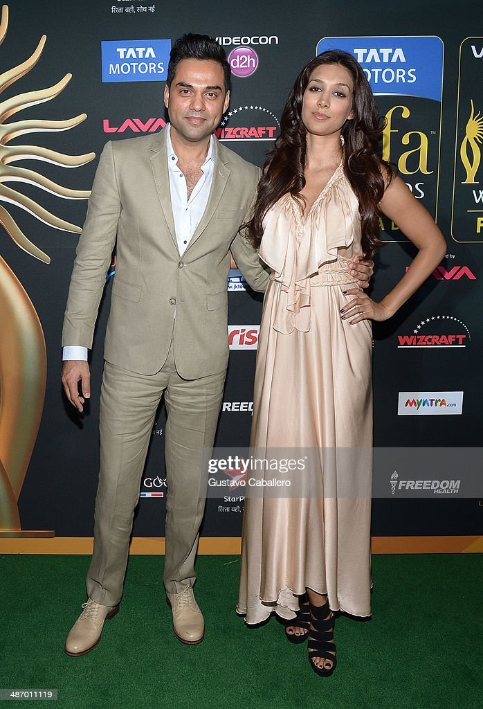 <a gi-track='captionPersonalityLinkClicked' href=/galleries/search?phrase=Abhay+Deol&family=editorial&specificpeople=5377911 ng-click='$event.stopPropagation()'>Abhay Deol</a> (L) arrives to the IIFA Awards at Raymond James Stadium on April 26, 2014 in Tampa, Florida.