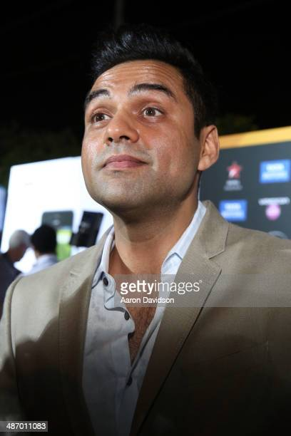 Abhay Deol is interviewed on the green carpet before the IIFA Awards at Raymond James Stadium on April 26 2014 in Tampa Florida