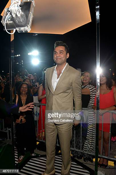 Abhay Deol poses in the Vine 360 Booth before the IIFA Awards at Raymond James Stadium on April 26 2014 in Tampa Florida