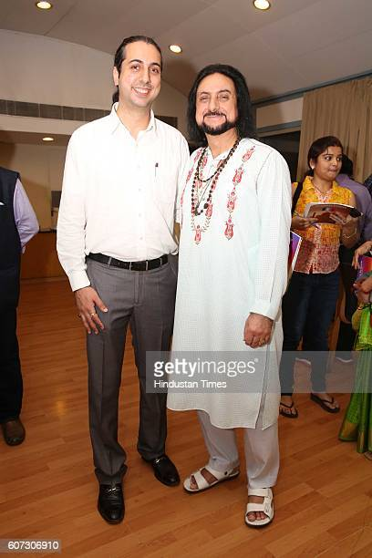 Abhay Rustum Sopori and Pandit Bhajan Sopori during a press conference of Namaste France and meet some artists to celebrate French and Indian...
