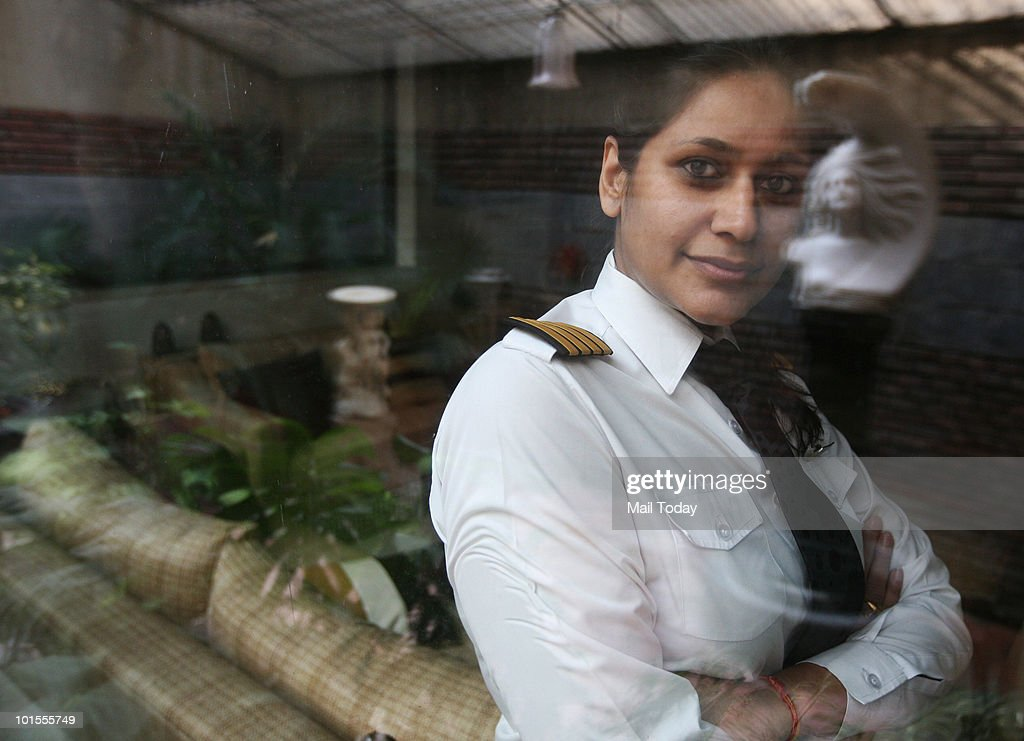 Abheepsa Gupta, commander, Indian Airlines, poses for a picture in New Delhi. Abheepsa feels that woman pilots lose out on the career front when they have kids.