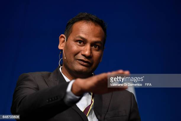 Abhijeet Barse Chief Executive Director Slum Soccer during the FIFA Annual Conference for Equality Inclusion at the Home of FIFA on March 6 2017 in...