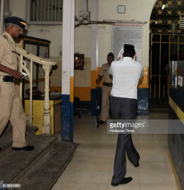Abhijeet Konduskar of Konduskar Travels being taken to Azad Maidan police lock up He was arrested by the DRI for illegally selling Ketamine...