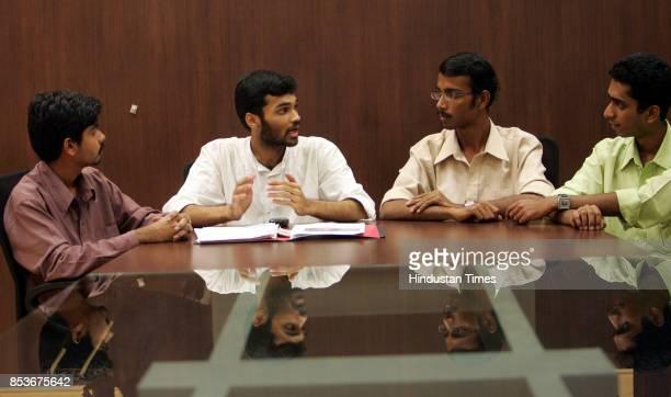 Abhijit Ameya Nikhil and Umakant discuss plan for their NGO Dneyam