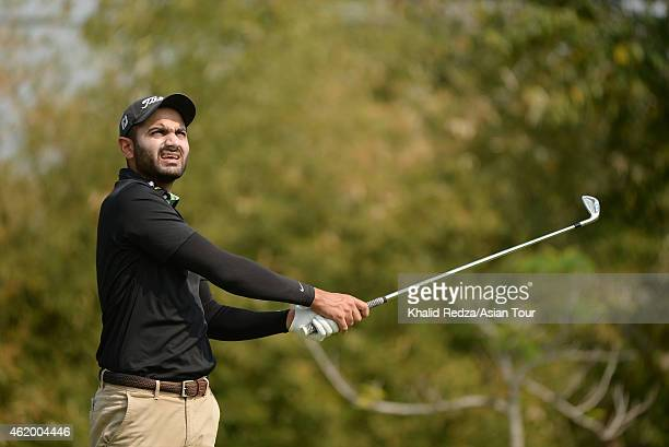 Abhijit Chadha of India in action during round three of the Asian Tour Qualifying School presented by Sports Authority of Thailand at the Springfield...