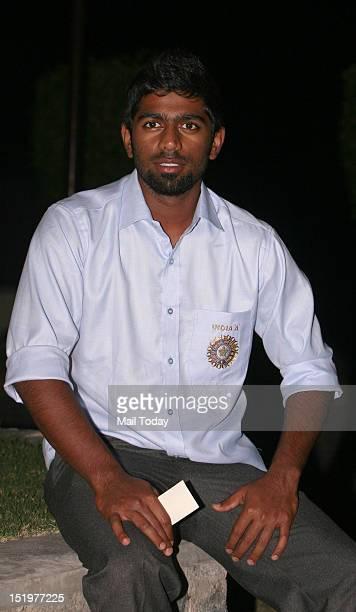 Abhinav Mukund captain of New Zealandbound India A team at a New Delhi hotel on Thursday 13th September 2012