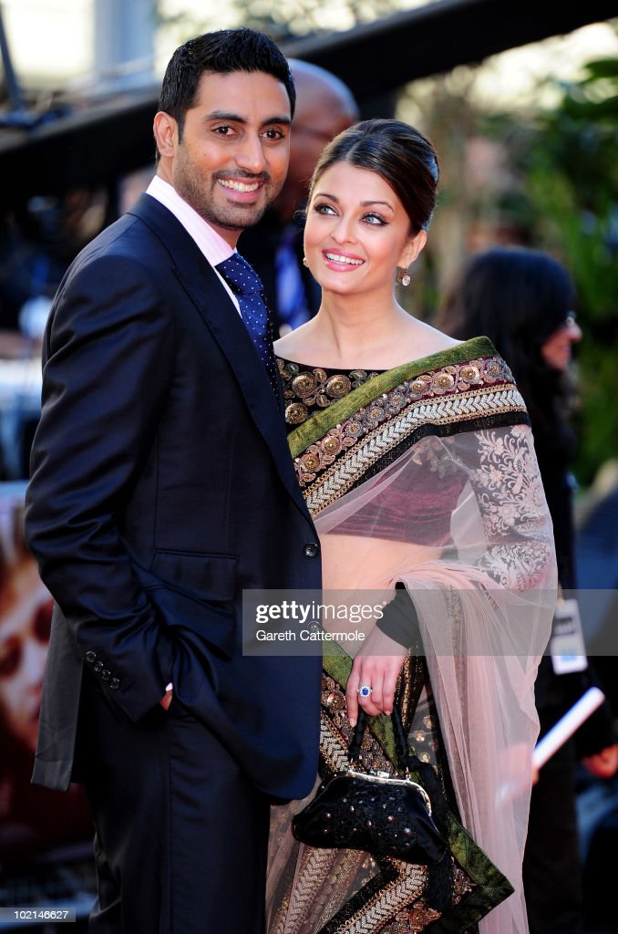 <a gi-track='captionPersonalityLinkClicked' href=/galleries/search?phrase=Abhishek+Bachchan&family=editorial&specificpeople=549431 ng-click='$event.stopPropagation()'>Abhishek Bachchan</a> and <a gi-track='captionPersonalityLinkClicked' href=/galleries/search?phrase=Aishwarya+Rai&family=editorial&specificpeople=202237 ng-click='$event.stopPropagation()'>Aishwarya Rai</a> arrive at the World Premiere of Raavan at the BFI Southbank on June 16, 2010 in London, England.