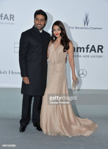 Abhishek Bachchan and Aishwarya Rai attends amfAR's 21st Cinema Against AIDS Gala Presented By WORLDVIEW BOLD FILMS And BVLGARI at the 67th Annual...