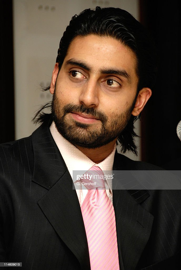 <a gi-track='captionPersonalityLinkClicked' href=/galleries/search?phrase=Abhishek+Bachchan&family=editorial&specificpeople=549431 ng-click='$event.stopPropagation()'>Abhishek Bachchan</a> during 'Guru' New York Press Conference at Radisson Hotel in New York City, New York, United States.