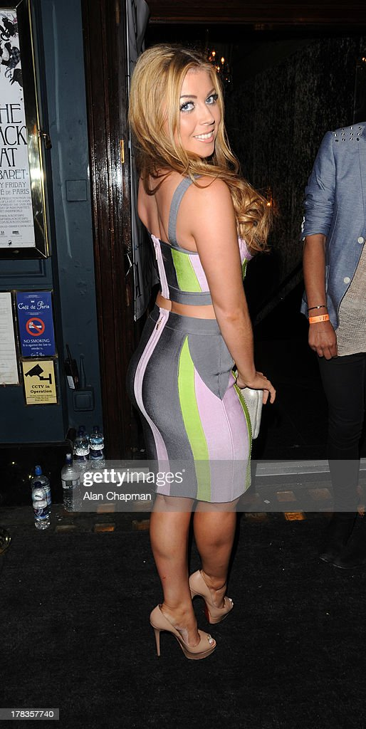 Abi Clarke sighting at Cafe de Paris on August 29, 2013 in London, England.