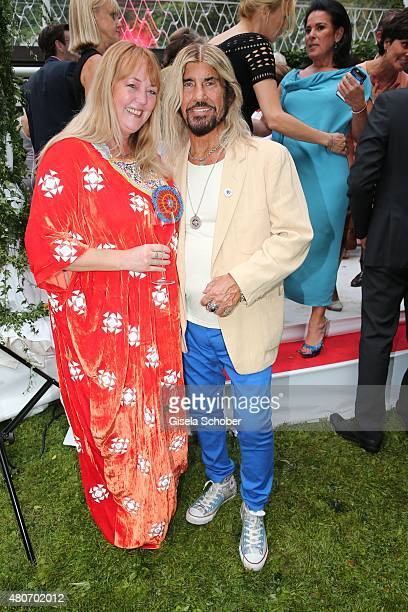 Abi Ofarim and his partner Kirsten Schmidt during the 'Winning by Giving' charity by Hadassah Medical Center on July 14 2015 in Munich Germany