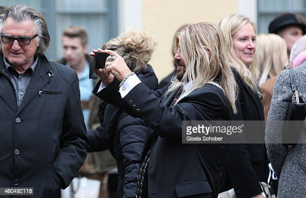 Abi Ofarim attends the wedding of Gil Ofarim and Verena Brock on December 15 2014 in Ismaning Munich Germany