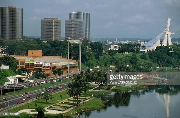 Abidjan illustration in Abidjan Cote d'Ivoire in June 2000 Le Plateau neighborhood
