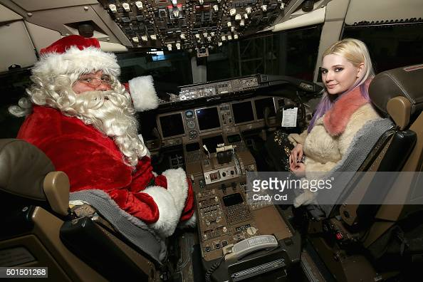 Abigail Breslin and Santa join Delta Air Lines and YMCA of Greater New York for the fifth anual 'Holiday in the Hangar' a special holiday celebration...