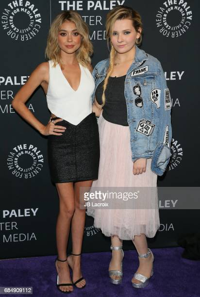 Abigail Breslin and Sarah Hyland attend the 2017 PaleyLive LA Spring Season 'Dirty Dancing The New ABC Musical Event' premiere screening and...